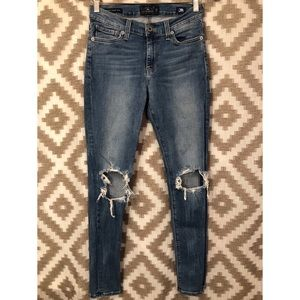 Lucky Brand Distressed Ripped Brooke Legging Jeans